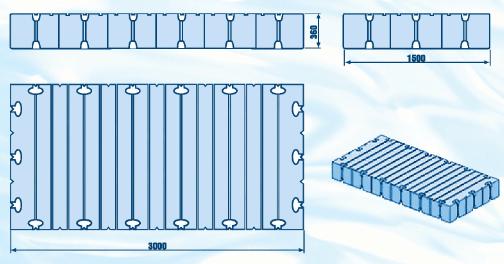 Модуль пластикового понтона